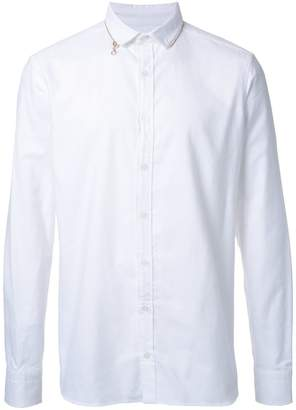 Kolor english cut-away collar shirt