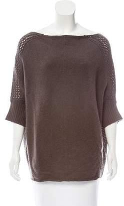 Velvet Cashmere Short Sleeve Sweater
