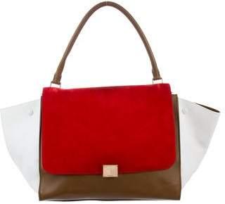 Celine Tricolor Large Trapeze Bag