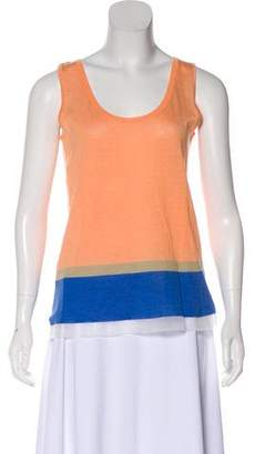 Philosophy di Alberta Ferretti Striped Sleeveless Knit Top