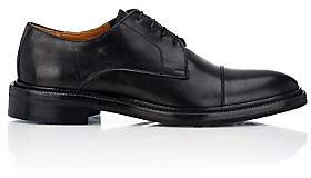 Barneys New York MEN'S LEATHER CAP-TOE BLUCHERS-BLACK SIZE 8 M