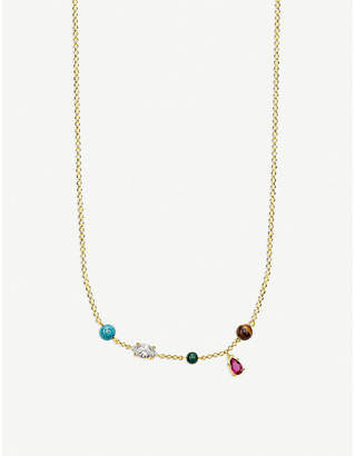Thomas Sabo Glam & Soul Riviera Colours 18ct gold-plated necklace