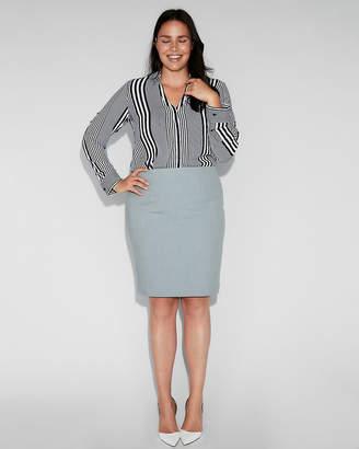 Express Slim Fit Striped No Pocket Portofino Shirt