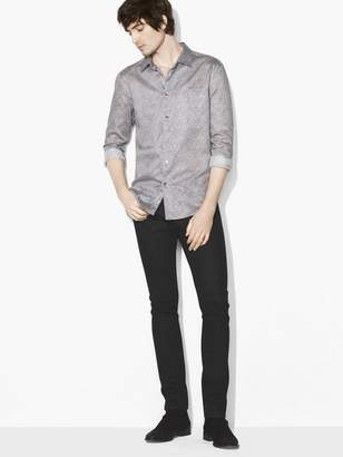 John Varvatos Printed Micro-Dot Shirt