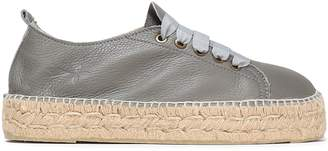 Manebi Canyon Pebbled-leather Espadrille Sneakers