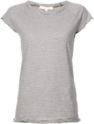 Nili Lotan frill hem striped T-shirt