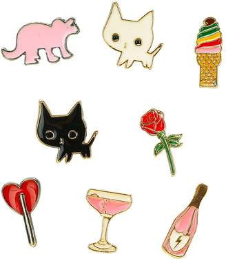 WeWe Fashion Enamel Cute Cartoon Mini Brooch Pins Badge for Clothes Bag Jewelry Accessory