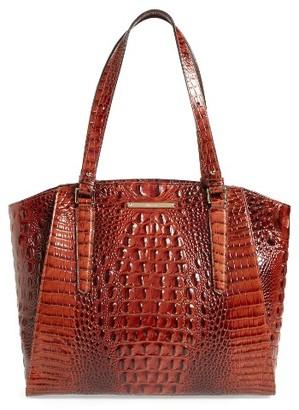 Brahmin 'Paris' Croc Embossed Leather Tote - Brown $365 thestylecure.com