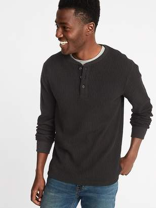 Old Navy Chunky-Textured Thermal-Knit Henley for Men