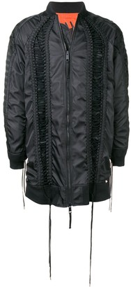Kokon To Zai long lace bomber jacket
