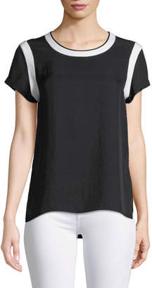 Rag & Bone Nick Crewneck Tee with Contrast Trim