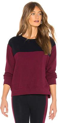 Sundry Colorblock Crew Neck Sweater