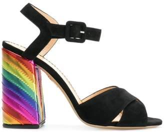 Charlotte Olympia rainbow heel pumps