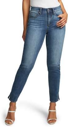 NYDJ Curves 360 by Side Slit Slim Straight Jeans
