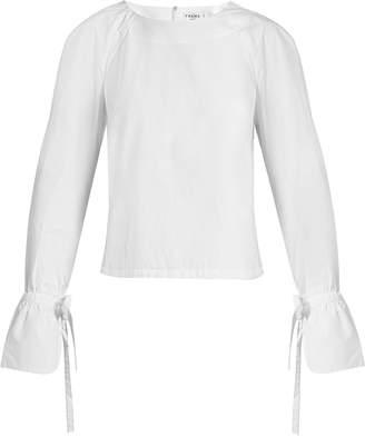 Frame Cuff-tie cotton-poplin top