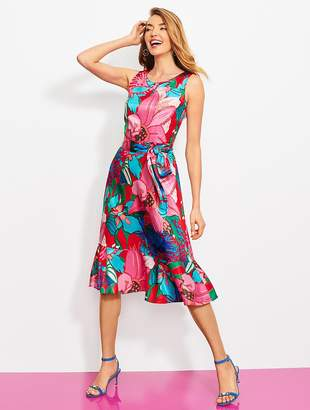 Talbots Tropical Floral Fit-And-Flare Dress