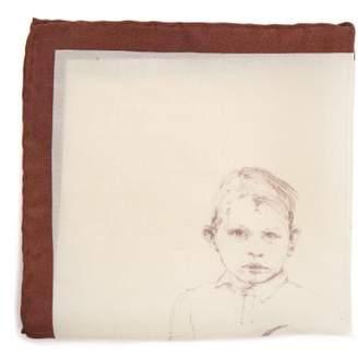 Title Of Work - Brave Explorer Pocket Square - Mens - Brown