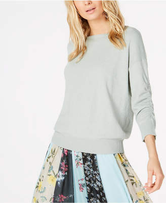 INC International Concepts I.N.C. Ruched-Sleeve Sweater, Created for Macy's
