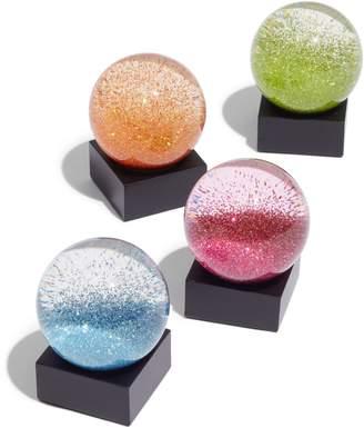 COOLSNOWGLOBES Mini Jewels Set of 4 Snow Globes
