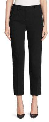 Armani Collezioni Textured Slim-Leg Virgin Wool Pants