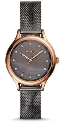 Fossil Laney Three-Hand Smoke Stainless Steel Watch
