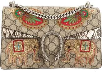 Gucci GG Supreme Dionysus Embroidered Shoulder Bag (3594002)