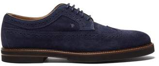 Tod's Suede Brogues - Mens - Navy