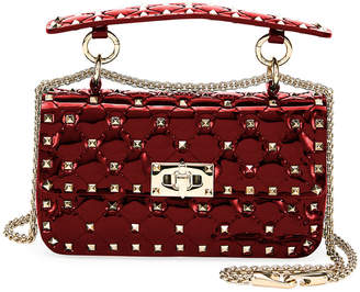 Valentino Spike.It Small Quilted Patent Leather Shoulder Bag