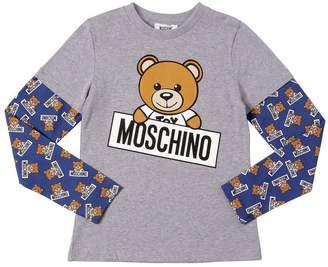 Moschino Teddy Bear Printed Cotton Jersey T-Shirt