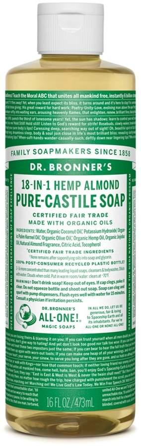 Dr. Bronner's Almond Castile Liquid Soap by 16oz Liquid)