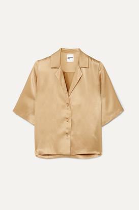 Orseund Iris Le Funk Silk-satin Shirt - Camel
