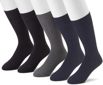 Croft & Barrow Men's 5-pk. Premium Ribbed Dress Socks