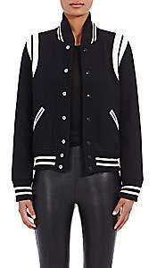 Saint Laurent Women's Varsity Jacket - Naturale