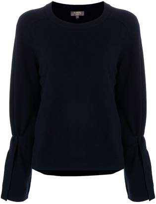 N.Peal Cashmere Tie sleeve sweater