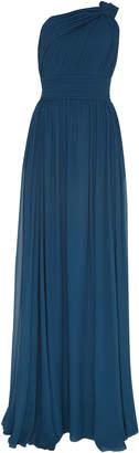 Elie Saab One Shoulder Draped Dress
