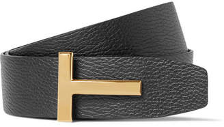 Tom Ford 4cm Black And Brown Reversible Full-Grain Leather Belt