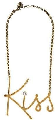 Lanvin Golden Kiss Pendant Necklace
