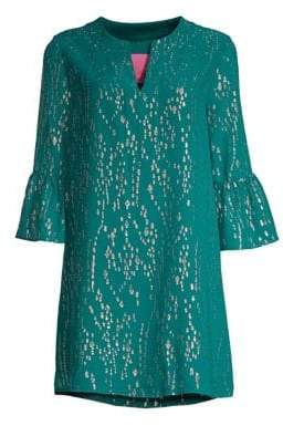Lilly Pulitzer Elenora Metallic Silk Tunic Dress