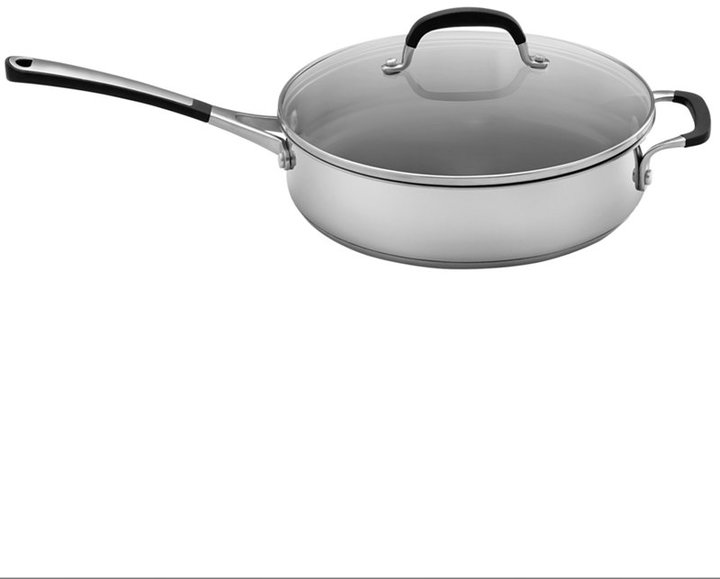 Calphalon Simply Stainless Steel 3 Qt. Covered Saute Pan
