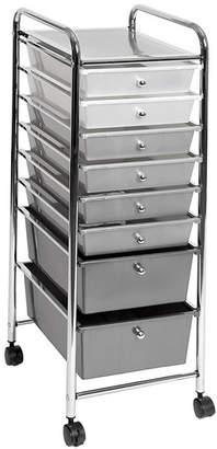 Seville Classics 8 Drawer Storage Bin Organizer Cart