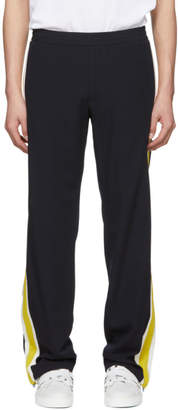 Valentino Navy and Yellow Striped Lounge Pants