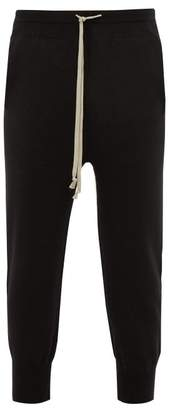 Boiled Cashmere Track Pants - Mens - Black