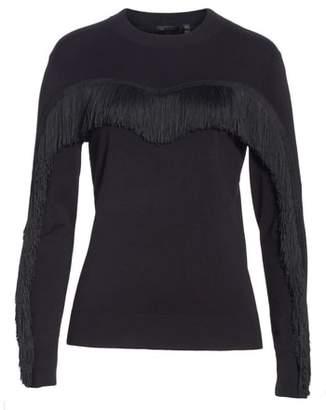 Ted Baker Aniebal Fringe Trim Sweater