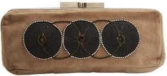 Chloé Brown Suede Clutch Bag