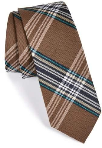 'Delores' Plaid Silk & Cotton Tie