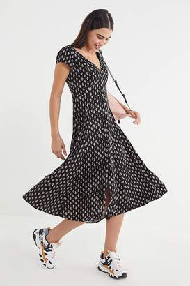 Urban Outfitters Malena Floral Button-Down Midi Dress