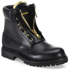 Balmain Taiga Leather Ranger Boots $1,275 thestylecure.com
