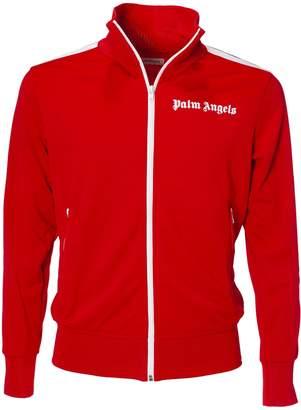Palm Angels Stripe Trim Zipped Jacket