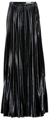 Saint Laurent Velvet silk-blend maxi skirt