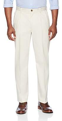 Buttoned Down Men's Relaxed Fit Pleated Stretch Non-Iron Dress Chino Pant